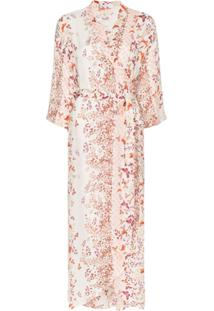 Bytimo Vestido Envelope Com Estampa Floral - Estampado