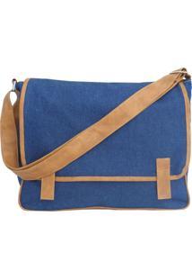 Bolsa Use Fast Transversal Jeans Wear - Masculino-Azul