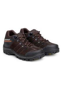 Bota Ankle Boot Explorer Masculino Couro Conforto Resistente Café 37 Café