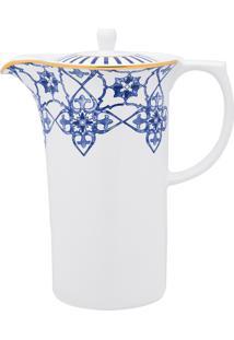 Conjunto De Café Oxford Coup Lusitana 3 Peças Porcelana Branco/Azul