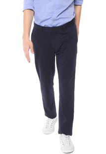 Calça Calvin Klein Chino Lisa Azul-Marinho