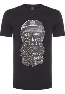 Camiseta Masculina Hollywood Snakes - Preto