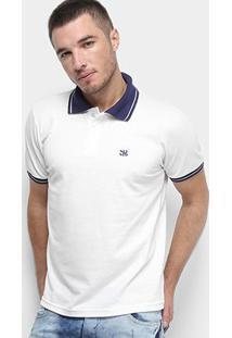 Camisa Polo Derek Ho Friso Logo Dkho Masculina - Masculino-Off White