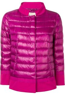 Herno Contrast Border Puffer Jacket - Rosa