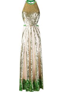 Temperley London Vestido De Festa Sycamore - Dourado
