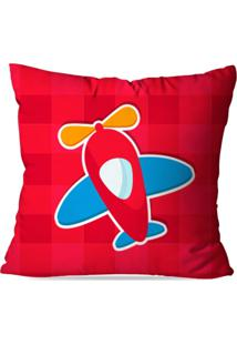 Capa De Almofada Avulsa Avião Baby Red 45X45Cm