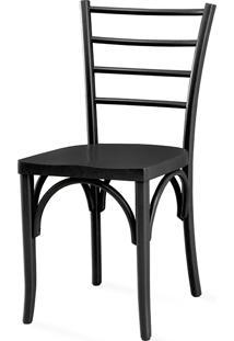 Cadeira Para Cozinha Com Assento Ergonômico - Laca Preta - Charlotte - 40,5X49X88 Cm