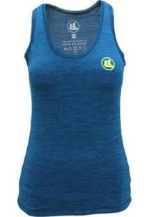 Regata Esporte Legal Poliamida Grael Uv45 Feminina - Feminino-Azul