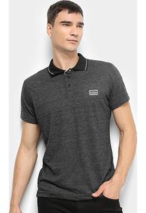 Camisa Polo Fatal Bordado Masculina - Masculino-Preto