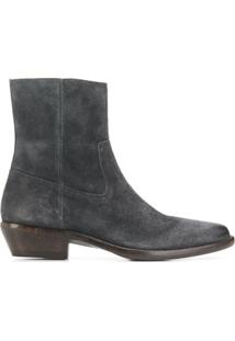Isabel Marant Ankle Boot Bico Fino - Cinza