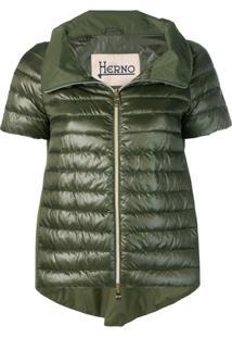 Herno Short Sleeve Padded Jacket - Verde