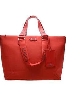 Bolsa Com Charm Bag- Vermelhaschutz
