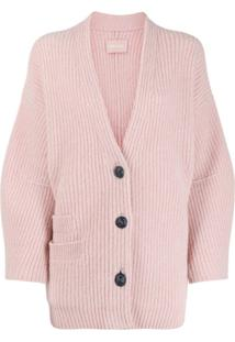 Zadig&Voltaire Austin Cable-Knit Cardigan - Rosa