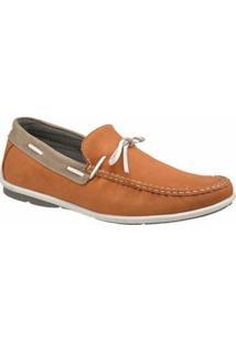 Mocassim Atron Shoes Casual - Masculino-Caramelo