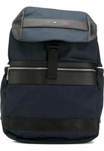 Tommy Hilfiger Textile Flap Backpack - Azul