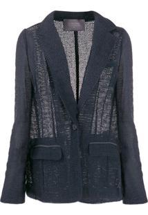 Lorena Antoniazzi Crocheted Fitted Jacket - Azul