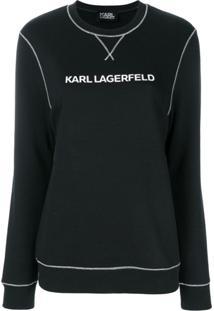 Karl Lagerfeld Blusa De Moletom 'Karl'S Essential' - Preto