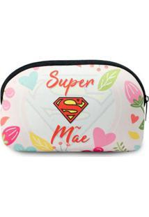 Necessaire Confort Em Neoprene Super Mãe - Feminino-Branco+Vermelho