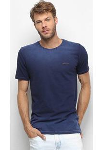 Camiseta Calvin Klein Estonada Masculina - Masculino-Azul