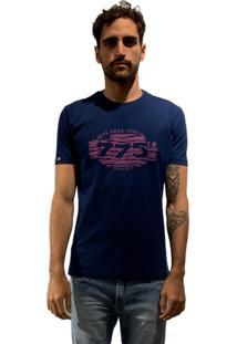Camiseta 775 Retro Zebra - Azul Marinho