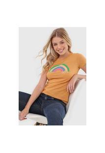 Camiseta Aeropostale Hello Caramelo