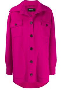 Rochas Button Up Shirt Jacket - Rosa