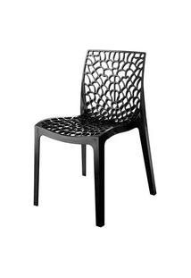 Cadeira Gruvyer Polipropileno Cor Chumbo - 31629 Preto