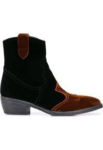 Madison.Maison Ankle Boot De Veludo - Preto