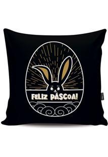 Capa Para Almofada Páscoa- Preta & Branca- 45X45Cm