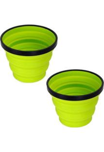 Kit 2 Canecas X-Mug Colapsável 480Ml Verde Para Atividades Outdoor Sea To Summit - Unissex