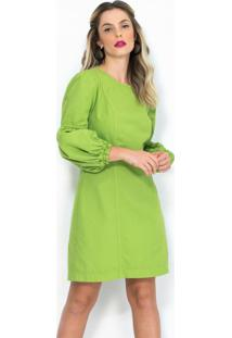 Vestido Curto Sarja Verde