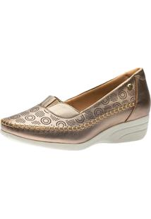 Sapato Anabela Doctor Shoes 3138 Metalic - Kanui