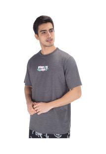Camiseta Hurley O&O Small Box Hanoi - Masculina - Cinza Esc Mescla