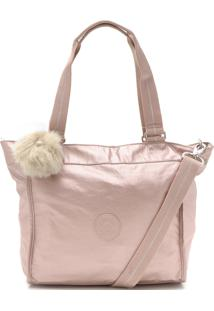 Bolsa Kipling Tote New Shopper S Metallic Rosa
