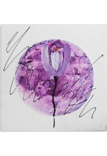 Quadro Tulipa Uniart Lilás 30X30Cm