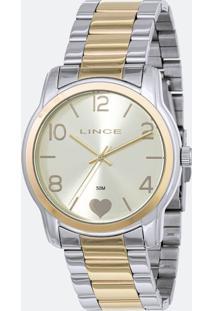Kit Relógio Feminino Lince Lrt4553L-Ku85C2Sk Analógico 5Atm + Pulseira