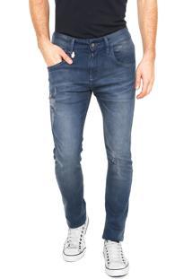 Calça Jeans Rock&Soda Skinny Estonada Azul