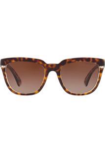 Ralph Lauren Óculos De Sol Quadrado - Marrom