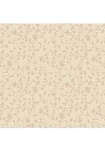 Papel De Parede Arabescos Florais- Bege & Bege Escuro