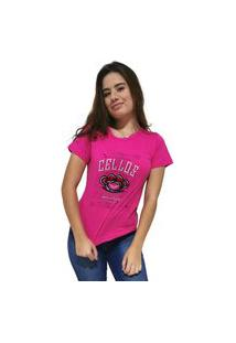 Camiseta Feminina Cellos Iron Knuckle Premium Rosa