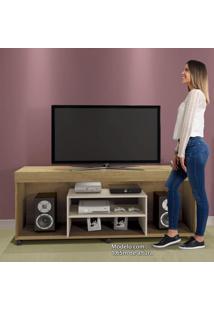 Rack Para Tv Até 60 Polegadas Com Rodízios Free Contemporâneo Mavaular Damasco/Off White