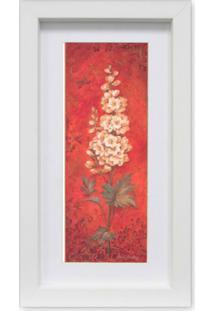 Quadro Floral Ii Kapos Branco 34X19Cm