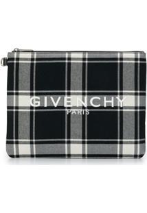 Givenchy Check Print Clutch Bag - Preto