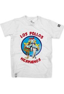 Camiseta Stoned Los Pollos Hermanos Masculina - Masculino-Branco