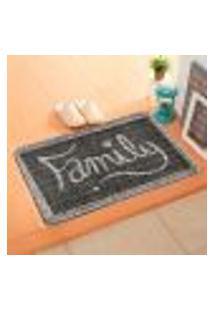 Capacho Carpet Family Cinza Único