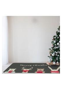 Tapete De Natal Para Sala Ursinhos Natalinhos Único