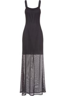 Vestido Tela Lurex - Preto