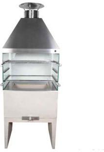 Churrasqueira Com Vidro E Coifa De Inox 65Cm Pequena Begnami