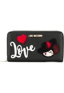 Love Moschino Carteira 'Love' - Preto