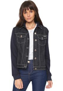 Jaqueta Jeans Sommer Com Capuz Azul